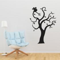 Stenska nalepka Veverica na drevesu G0362
