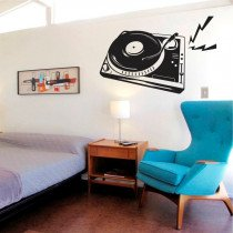 Stenska nalepka Gramofon O0043