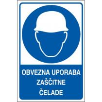 Obvezna uporaba zaščitne čelade