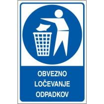 Obvezno ločevanje odpadkov