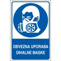 Obvezna uporaba dihalne maske