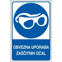 Obvezna uporaba zaščitnih očal