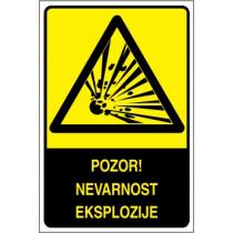 Pozor! Nevarnost eksplozije