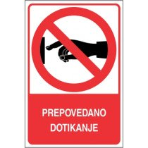 Prepovedano dotikanje