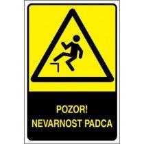 Pozor! Nevarnost padca