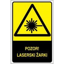 Pozor! Laserski žarki