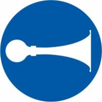 Znak Obvezna uporaba hupe