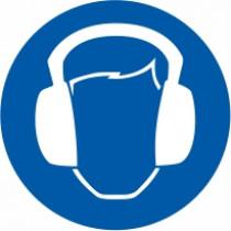 Znak Obvezna uporaba zaščite za sluh