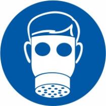 Znak Obvezna uporaba zaščitne maske s filtrom