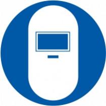 Znak Obvezna uporaba maske za varjenje