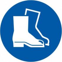 Znak Obvezna uporaba zaščitne obuje
