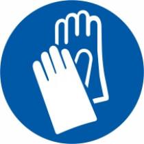 Znak Obvezna uporaba zaščitnih rokavic