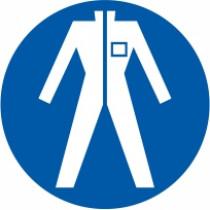 Znak Obvezna uporaba zaščitne obleke
