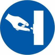 Znak Obvezno izključi kadar ni v uporabi