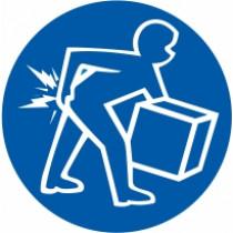 Znak Pazi na pravilno dvigovanje težjih predmetov
