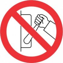 Znak Prepovedan izklop naprave