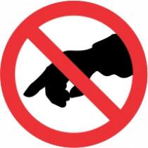 Znak Prepovedano dotikanje