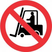 Znak Prepovedana uporaba viličarja