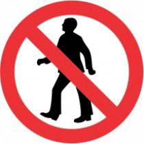 Znak Prepovedano za pešce