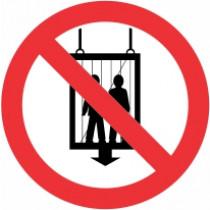 Znak Prepovedana uporaba dvigala