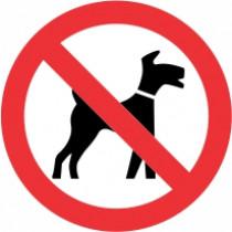Znak Prepovedano za pse, razen pse vodnike