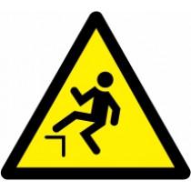 Znak Pozor! Nevarnost padca
