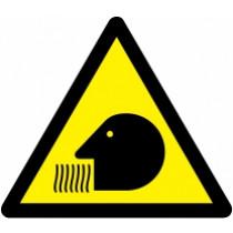 Znak Pozor! Nevarnost pri vdihavanju