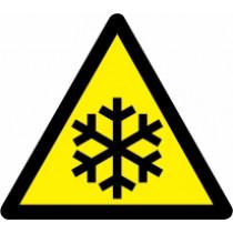 Znak Pozor! Nizka temperatura