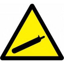 Znak Pozor! Plinske jeklenke
