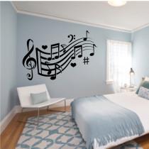 Dekorativne stenske nalepke Glasba